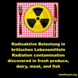 Guten Appetit!? Radioaktive Belastung in britischen Lebensmitteln